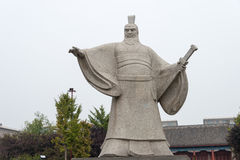 HENAN CHINY, Oct, - 26 2015: Statua Cao Cao przy Weiwud (155-220) Obraz Stock