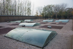 HENAN, CINA - 26 NOVEMBRE 2014: Shang Dynasty Royal Cemetery un famo immagini stock libere da diritti