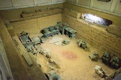 HENAN, CINA - 26 NOVEMBRE 2014: Tomba di Fu Hao ad Yin Ruins (Yinxu) fotografie stock libere da diritti