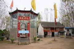 HENAN, CINA - 29 ottobre 2015: Tomba di Hua Tuo (140-208) una h famosa Immagine Stock