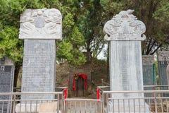 HENAN, CINA - 29 ottobre 2015: Tomba di Hua Tuo (140-208) una h famosa Fotografie Stock