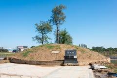 HENAN, CINA - 27 ottobre 2015: Tomba di Wang Yun (137-192) un famoso Fotografie Stock Libere da Diritti