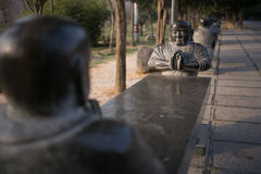 Henan, de beroemde toeristische attractie van China ` s, Shaolin-Tempel, Songshan Royalty-vrije Stock Afbeeldingen