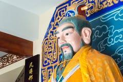 HENAN KINA - Juli 07 2015: Hertigen av Zhou Statue på Luoyang Z Arkivbild