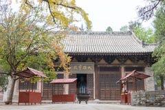 HENAN KINA - November 04 2015: Huishan tempel (UNESCOvärldsarv Royaltyfria Bilder