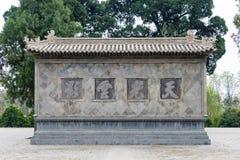 HENAN KINA - November 04 2015: Huishan tempel (UNESCOvärldsarv Royaltyfri Bild