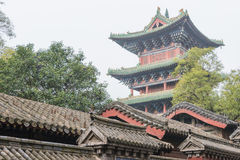 HENAN KINA - November 09 2015: Shaolin tempel (världsarv) Royaltyfri Foto
