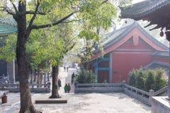 HENAN KINA - November 09 2015: Shaolin tempel (världsarv) Arkivbilder