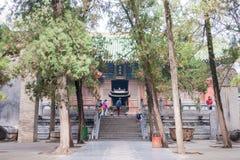 HENAN KINA - November 09 2015: Shaolin tempel (världsarv) Arkivfoto