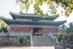 HENAN KINA - November 04 2015: Yongtai tempel en berömd historisk si Royaltyfri Fotografi