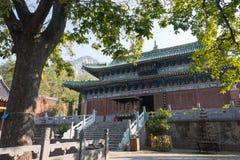 HENAN KINA - November 04 2015: Yongtai tempel en berömd historisk si Arkivbild