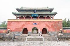HENAN KINA - November 07 2015: Zhongyue tempel (världsarv) Fotografering för Bildbyråer