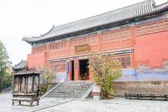 HENAN KINA - November 07 2015: Zhongyue tempel (världsarv) Arkivbilder