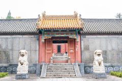 HENAN KINA - November 07 2015: Zhongyue tempel (världsarv) Arkivfoto
