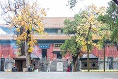 HENAN KINA - November 07 2015: Zhongyue tempel (världsarv) Royaltyfria Bilder