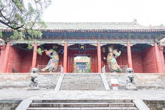 HENAN KINA - November 07 2015: Zhongyue tempel (världsarv) Royaltyfri Bild