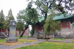 HENAN KINA - November 07 2015: Zhongyue tempel (världsarv) Royaltyfri Foto