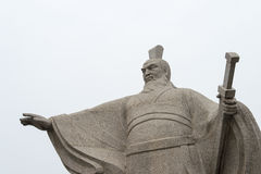 HENAN KINA - Oktober 28 2015: Staty av Cao Cao (155-220) på Weiwud Royaltyfria Foton