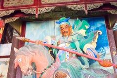 HENAN KINA - Oktober 27 2015: Staty av Guan Yu på Xuchang Guandi Arkivfoto