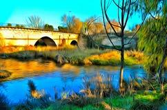 Henares-Fluss, Guadalajara Lizenzfreie Stockbilder