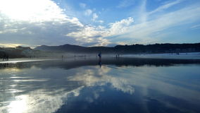 Hendaye della spiaggia fotografia stock