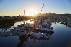 Port de plaisance, the leisure harbour of Hendaye, Aquitaine, Fr Stock Photo