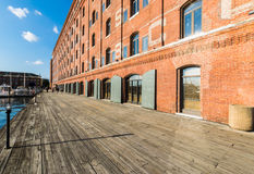 Henderons Wharf in Fells Point in Batimore, Maryland.  stock images