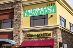 Henderson - Circa December 2016:The Source Las Vegas Medical Marijuana Dispensary. In 2017, Pot will be legal in Nevada II Royalty Free Stock Photos