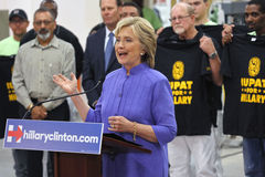 HENDERSON, NANOVOLTIO - 14 DE OCTUBRE DE 2015: U Democratic S el candidato presidencial y el Secretario de Estado anterior Hillar Fotos de archivo