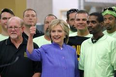 HENDERSON, NV - 14-ОЕ ОКТЯБРЯ 2015: Демократичный u S кандидат в президенты & бывший секретарь положения Хиллари Клинтон усмехают Стоковые Фото
