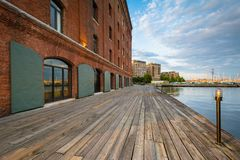 Henderson`s Wharf in Fells Point, Baltimore, Maryland.  stock photos