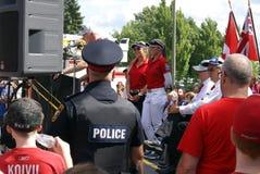 Henderson Sisters Hometown Speech stock foto's