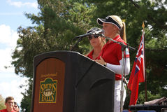 Henderson Sisters Hometown Speech Royaltyfri Foto