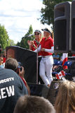 Henderson Sisters Hometown Speech Arkivbild