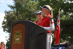 Henderson Sisters Hometown Speech Arkivfoto