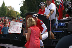 Henderson Sisters Hometown Speech Stock Images