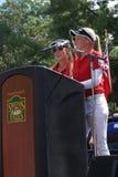 Henderson Sisters Hometown Speech Stock Photo