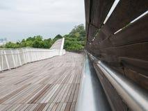 Henderson Waves Bridge avec onduler l'acier incurvé photographie stock