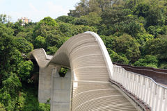 Henderson Waves bridge on Mount Faber rainforest Royalty Free Stock Photo