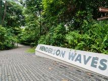Henderson Waves Bridge Singapore Nameplate lizenzfreie stockfotografie