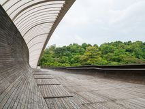 Henderson Waves Bridge Singapore Pedestrian Bridge. Henderson Waves Bridge with Undulating Curved Steel and Curved Wood Floor, is the highest pedestrian bridge Royalty Free Stock Photography