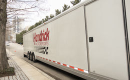 Hendrick Motorsports 24-car trailer Stock Images