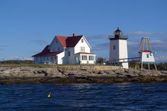 Hendricks Head Lighthouse. View from Bar Harbor Maine Stock Photography