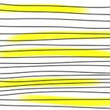 Hendwritten-Zusammenfassungslinien stockbilder