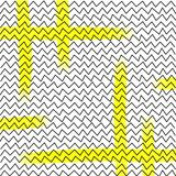 Hendwritten-Zusammenfassungslinien, Dreiecke Lizenzfreies Stockfoto