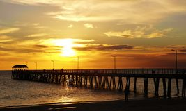 Henely Beach jetty Royalty Free Stock Photography