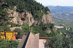 Heng shan monastery in Shanxi Province near Datong, China Royalty Free Stock Photos