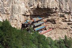 Heng shankloster i det Shanxi landskapet nära Datong, Kina Arkivbilder