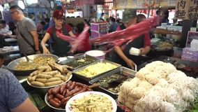 Hengchun food court in Taiwan. stock footage