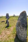 Henge de piedra antiguo en la isla de Oland Imagenes de archivo